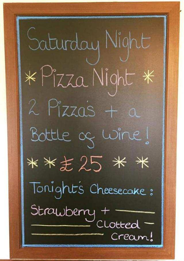 Angarrack Inn Tonight is Pizza Night! Two of our Italian chef's homemade pizzas and a bottle of wine for £25! #angarrackinn #pizzanight #wine #dogfriendly #cornwall